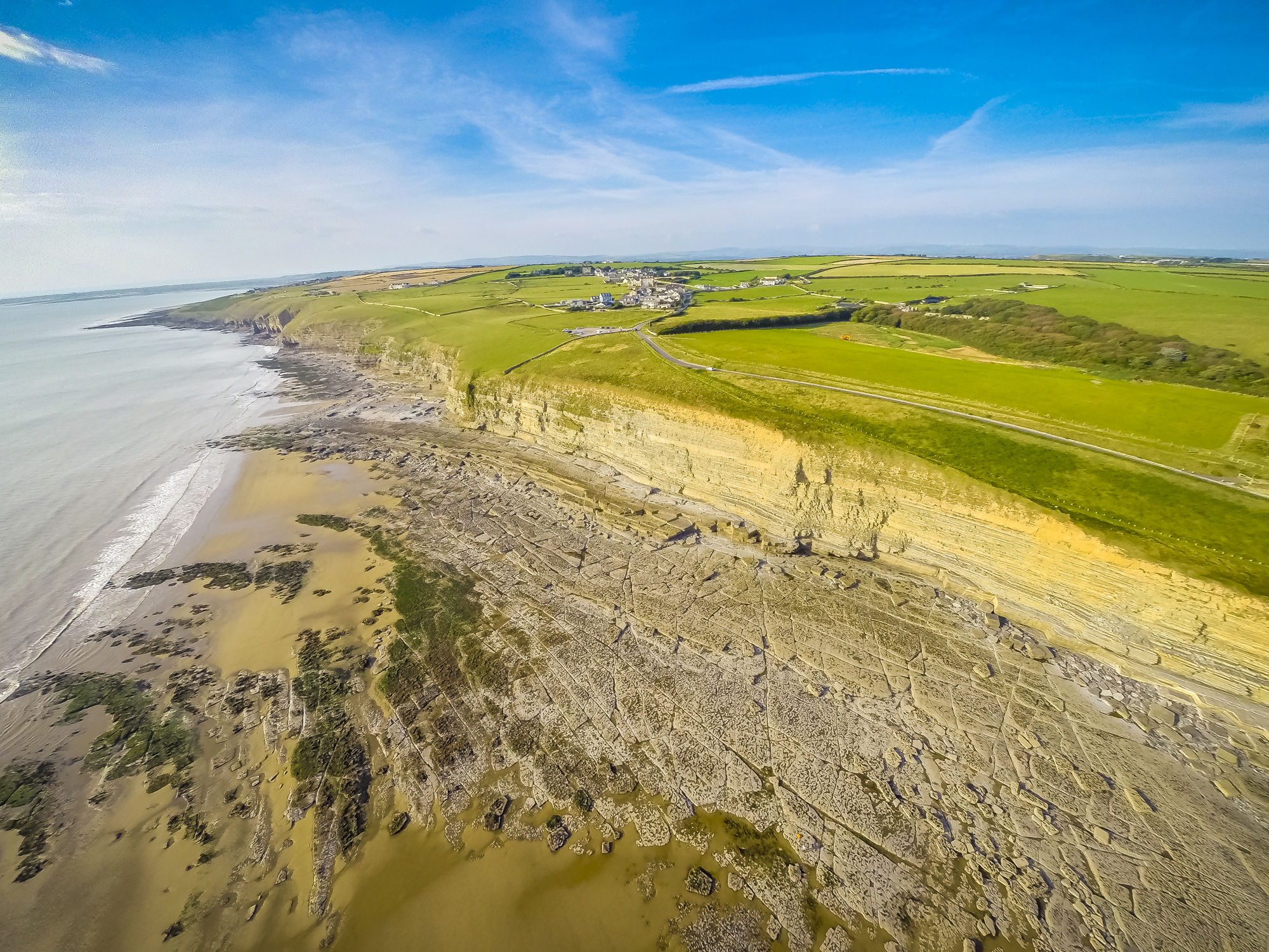 drone aerial filming with Southerndown South Wales on Southend Pier Aerial Fimling And Photography as well Handheld Gopro Stabilizer 3 Axis together with Red Drone Frankfurt moreover Keepers Pond Blaenavon also Kendal Floods.