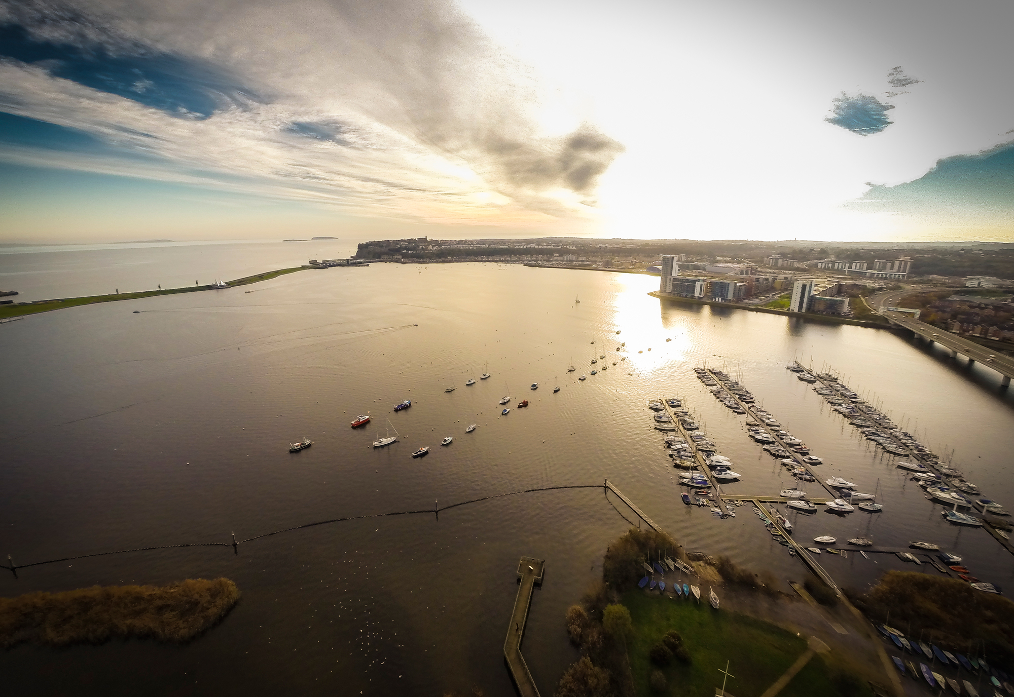 Cardiff Bay and Penarth Marina, South Wales
