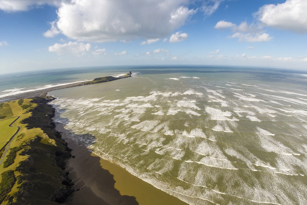 Aerial Photograph Rhosilli, South Wales