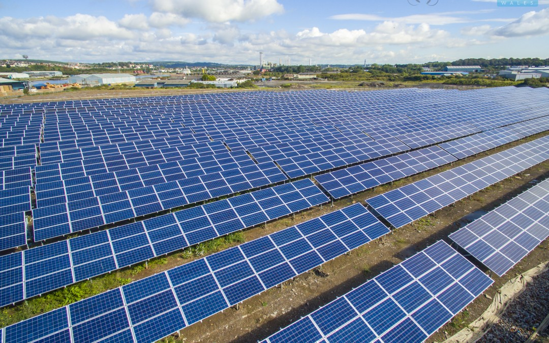Drone Photography for the Association of British Ports. Solar Array- Barry, South Wales