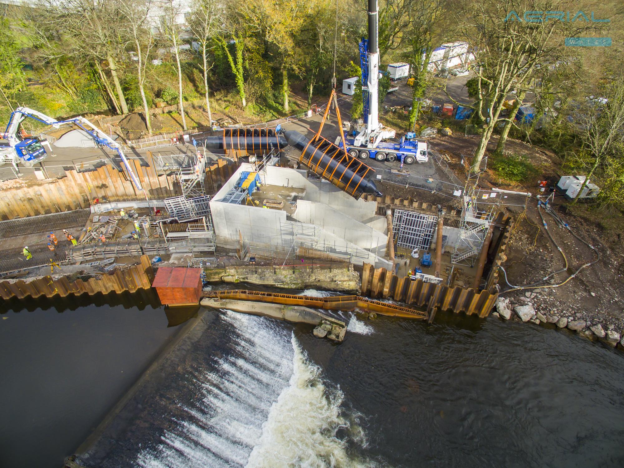 Radyr Weir Hydro Scheme-94