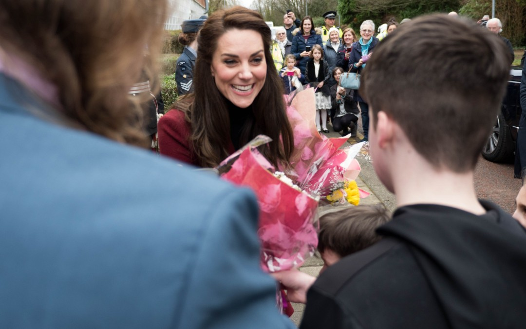 The Duchess of Cambridge visits the office.