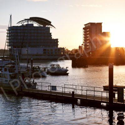 Cardiff bay sunset