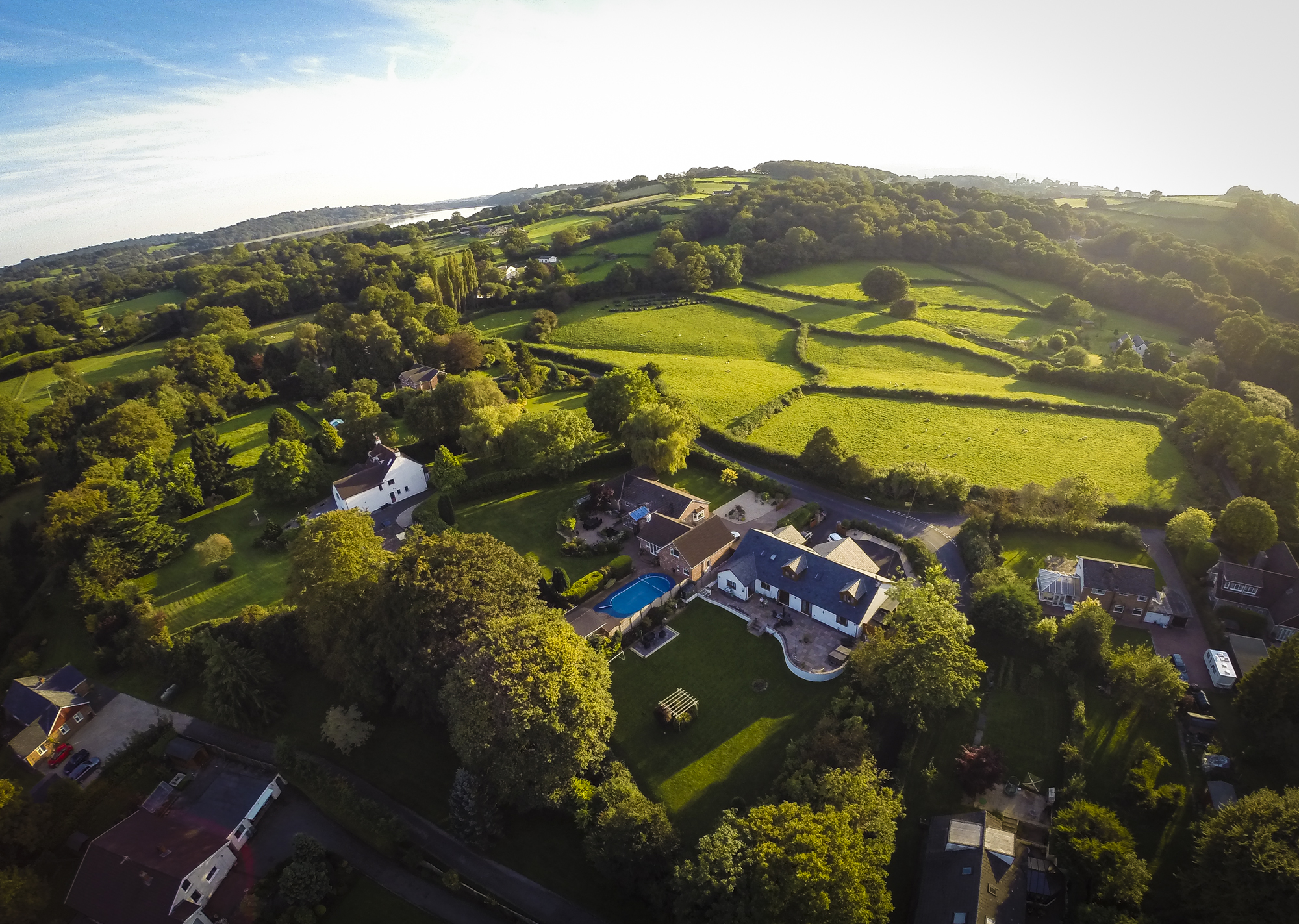 Aerial Photography – Glascoed Village, Pontypool, South Wales