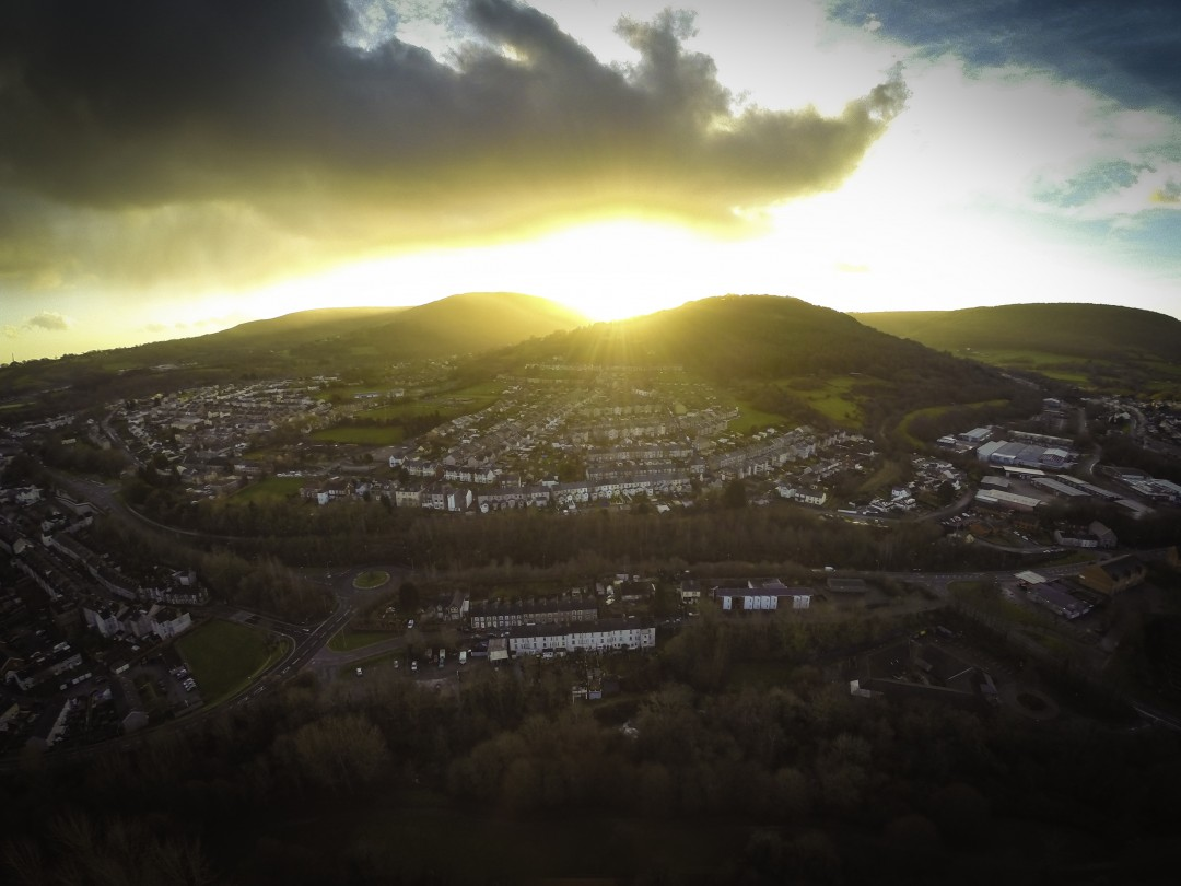 Christmas day in Pontypool, South Wales
