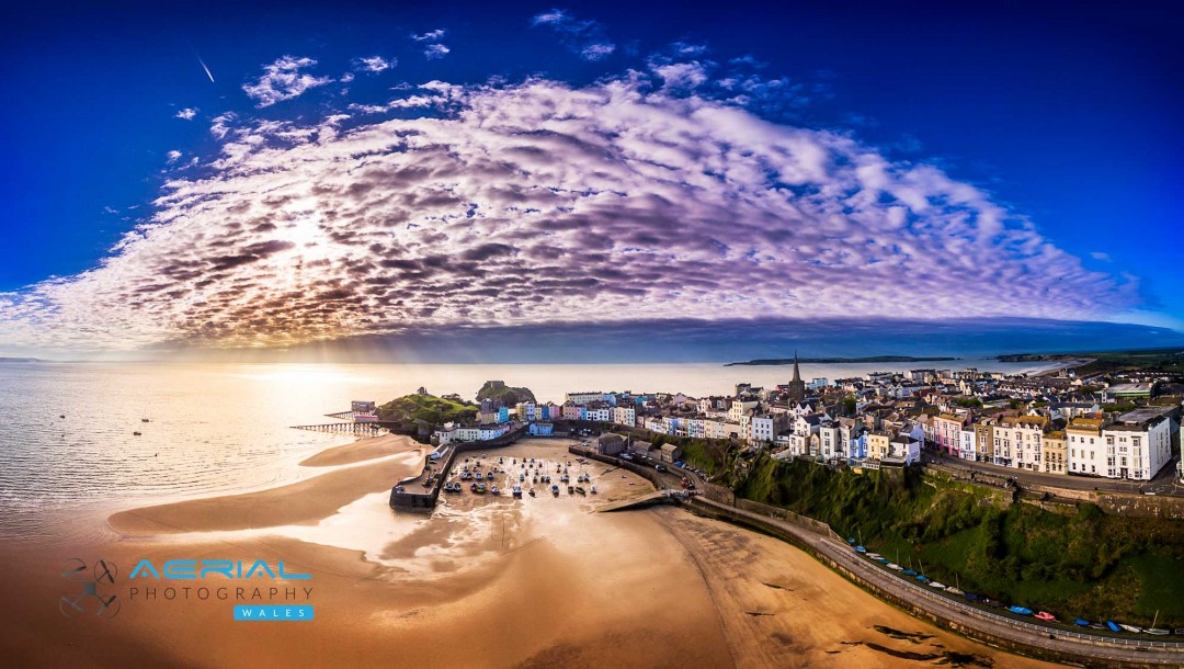Tenby – South Wales. Aerial Photography Wales
