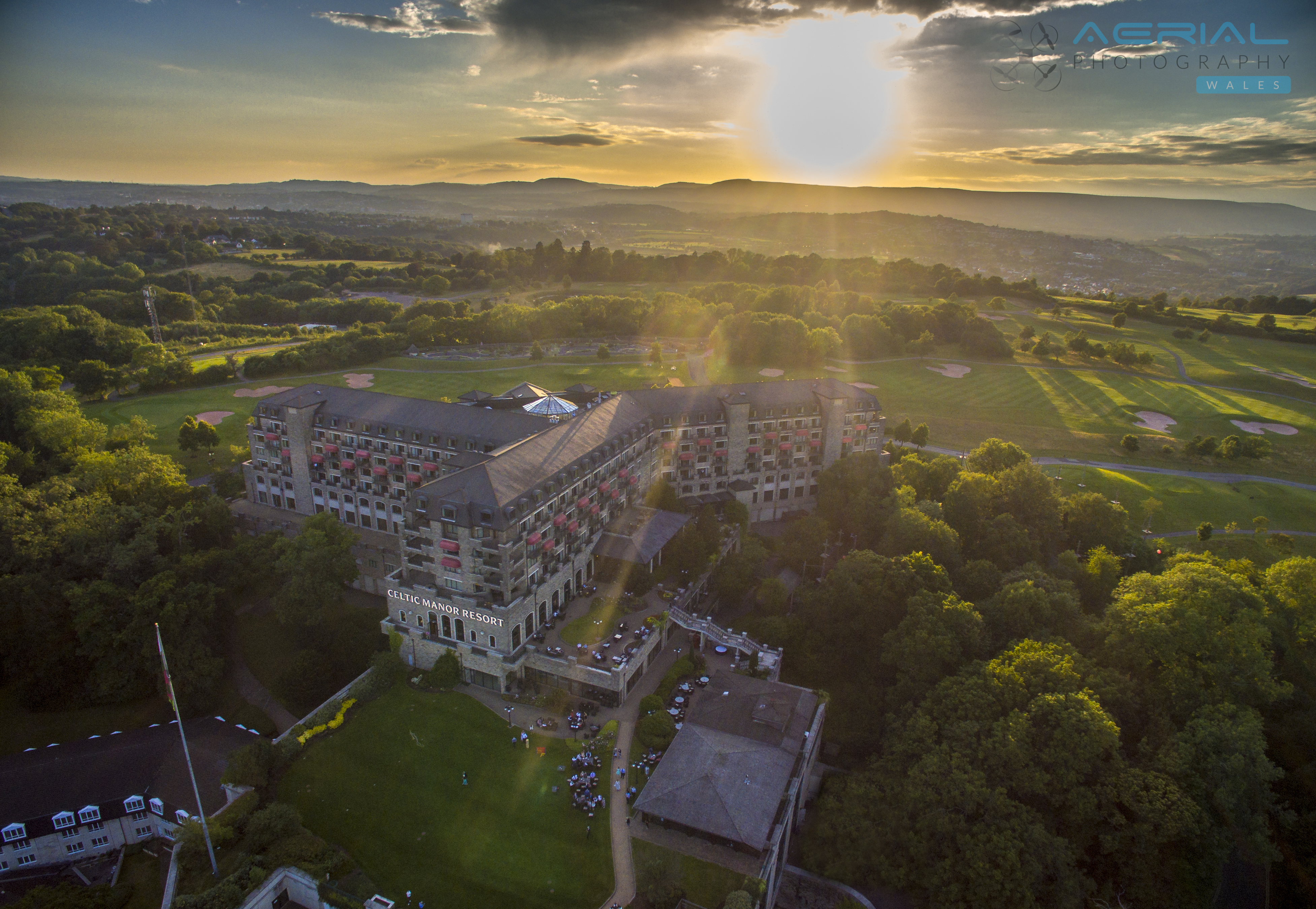 Celtic Manor Sunset – Aerial Photography Newport