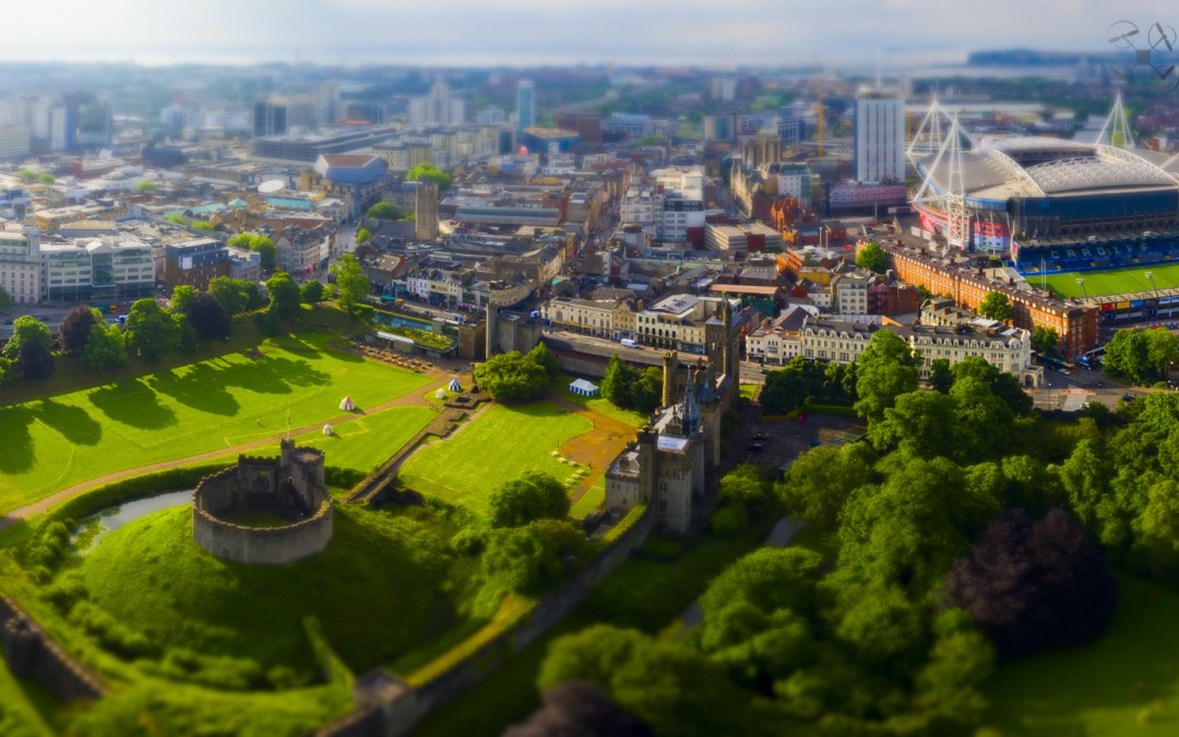 Aerial Filming in Cardiff Castle – Aerial Photography Wales